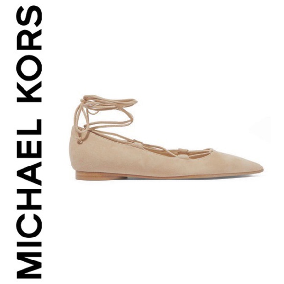 New Mk Collection Kallie Suede Lace Up